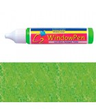 PINTURA VIDRIO WINDOW PEN DE HOBBY LINE 25 ML : WINDOW COLOR C2:41724 GLITTER VERDE