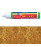 PINTURA VIDRIO WINDOW PEN DE HOBBY LINE 25 ML : WINDOW COLOR C2:41727 GLITTER ORO