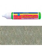PINTURA VIDRIO WINDOW PEN DE HOBBY LINE 25 ML : WINDOW COLOR C2:41728 GLITTER PLATA
