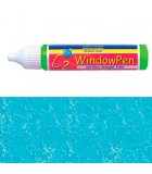 PINTURA VIDRIO WINDOW PEN DE HOBBY LINE 25 ML : WINDOW COLOR C2:41729 GLITTER AZUL