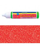 PINTURA VIDRIO WINDOW PEN DE HOBBY LINE 25 ML : WINDOW COLOR C2:41733 GLITTER ROJO