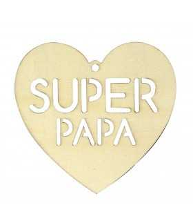 SILUETA SUPER PAPA MADERA 16x15,5 CM ARTEMIO