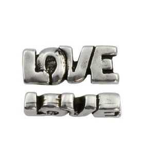 LOVE ZAMAK BAÑO PLATA 30x12x6 MM AGUJ. 3 MM 1 UD