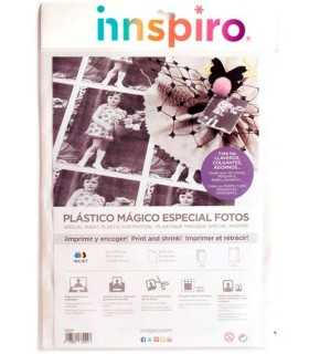 PLÁSTICO MÁGICO ESPECIAL FOTOS BLANCO 120 HOJAS A6