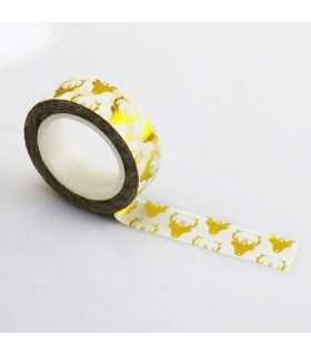 WASHI TAPE RENOS GOLD FOIL  15 MM x10 M