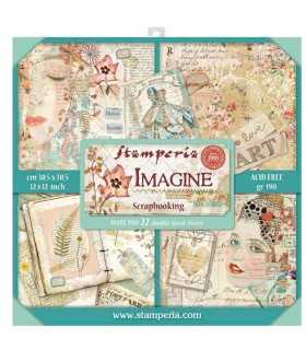 PAPELES SCRAP MAXI PAD 12x12 IMAGINE