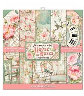 PAPELES SCRAP 10ud 12x12 HOUSE OF ROSES