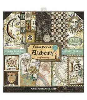 PAPELES SCRAP STAMPERIA 10ud 12x12 ALCHEMY