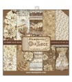 PAPELES SCRAP STAMPERIA 10ud 12x12 OLD LACE