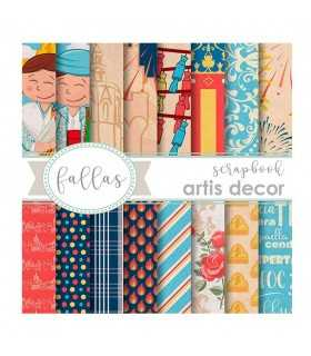 PAPEL SCRAP ARTIS DECOR FALLAS 6x6 18 UD