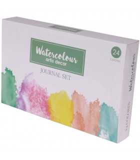 WATERCOLOUR JOURNAL SET ACUARELA 24 COLORES