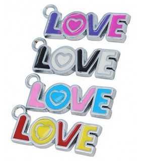 COLGANTE LOVE ESMALTE MIX 32x11x2 MM 3 UD