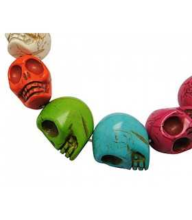 CALAVERAS DE HOWLITA MIX COLORES 24x29mm 3 UD