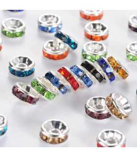 RONDEL CRISTAL 6x3 MM AGUJERO 1 MM MIX 10 UD