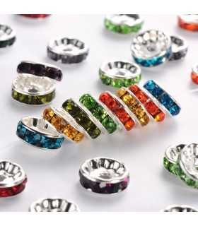 RONDEL CRISTAL MIX 10x4 MM AGUJERO 2 MM 5 UD