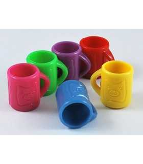 TAZA ACRÍLICO MIX COLORES 20,5x18,5x15,5 MM  10 UD