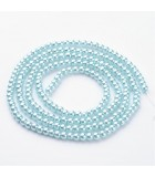 PERLAS CRISTAL LACADO 4 MM AGUJERO 1 MM 1 HILO : PERLAS CRISTAL LACADO:09 LIGHT BLUE