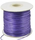 CORDÓN DE ALGODÓN ENCERADO 1 MM x 5 METROS : color:Púrpura