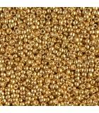 GRANITO MIYUKI 11/0 GALVANIZADO DURACOAT 6 GR : MIYUKI ROCALLA:4202 DC GALV GOLD