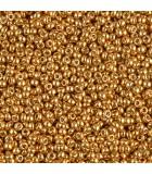 GRANITO MIYUKI 11/0 GALVANIZADO DURACOAT 6 GR : MIYUKI ROCALLA:4203 DCG YELLOW GOLD