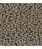 GRANITO MIYUKI 11/0 METALLIC FROSTED D 6 GR : MIYUKI ROCALLA:2091 MAT MET SILVER