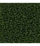 GRANITO MIYUKI 11/0 TRANSPARENT A 25 GR APROX : MIYUKI ROCALLA:158 TRAN OLIVE GREEN