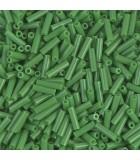 CANUTILLO MIYUKI 6 mm OPACO 10 GR : MIYUKI ROCALLA:411 OP JADE GREEN