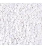 CUBOS MIYUKI 1,8 MM OPACOS-1 BOLSA 10 GR : MIYUKI CUBOS:402 OP WHITE