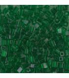 CUBOS MIYUKI  3 MM TRANSPARENT-1 BOLSA 10 GR : MIYUKI CUBOS:146 TRANS GREEN