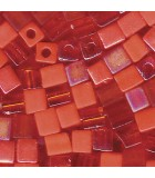 CUBOS MIYUKI 4 MM MIX-1 BOLSA 10 GR APROX : MIYUKI CUBOS:MIX29 ORANGE
