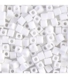 CUBOS MIYUKI 4 MM OPACOS-1 BOLSA 10 GR : MIYUKI CUBOS:402 OP WHITE