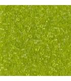 MIYUKI DELICA BEADS 11/0 TRANSPARENTES-1 6 GR APR : COLORES DELICA:712 TR CHARTREUSE