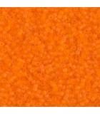 MIYUKI DELICA BEADS 11/0 TRANSPARENTE MATE 6 GR AP : COLORES DELICA:744 MAT TR ORANGE