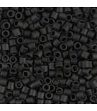MIYUKI DELICA BEADS 8/0 MATE BOLSA 5 GR APR : COLORES DELICA:310 MATTE BLACK