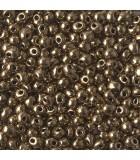 DROPS MIYUKI 3,4 mm METALLIC 3  10 GR : MIYUKI ROCALLA:457 DARK BRONZE
