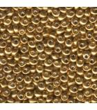MAGATAMA MIYUKI 4 MM GALVANIZADOS 10 GRAMOS : MIYUKI ROCALLA:1053 GALV YELLOW GOL