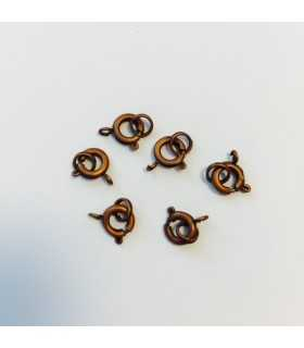 REASA 7 MM CON ANILLA DOBLE COBRE ANTIGUO 6 UD