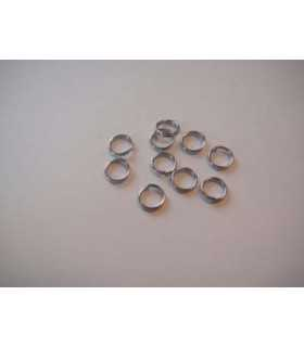ANILLAS DOBLES 6x1,5 MM COLOR PLATINO 10 UD