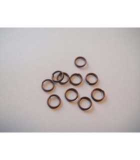 ANILLAS DOBLES 6x1,5 MM COBRE ANTIGUO 10 UD