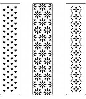 PLACA EMBOSSING COMPATIBLE CORAZONES 3 UD 3x15 CM