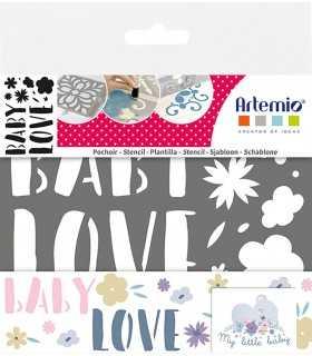 PLANTILLA STENCIL BABY LOVE 10 x 15 CM