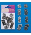ADORNOS METAL SCRAPBOOKING FLORES 13-31 MM 8 UD