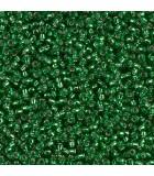 GRANITO MIYUKI 15/0 SILVER LINED-1 6 GR APR : MIYUKI ROCALLA:16 S.L. GREEN