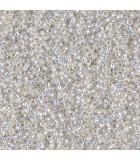GRANITO MIYUKI 15/0 SILVER LINED-1 6 GR APR : MIYUKI ROCALLA:551 WHITE OPAL S.L.