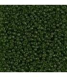 GRANITO MIYUKI 15/0 TRANSPARENT A 6 GR APROX : MIYUKI ROCALLA:158 TRAN OLIVE GREEN