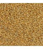 GRANITO MIYUKI 8/0 BAÑO 24 KT  6 GRAMOS : MIYUKI ROCALLA:191 24 KT GOLD PLATE