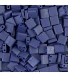 TILA BEADS 5x5x2 MM 2 AGUJEROS 5 GRAMOS METAL FROS : MIYUKI ROCALLA:2075 MAT MET SAP BLU