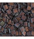 TILA BEADS 5x5x2 MM 2 AGUJEROS 5 GRAMOS METAL FROS : MIYUKI ROCALLA:2005 MET COPPER IRIS