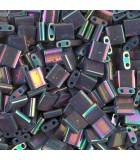 TILA BEADS 5x5x2 MM 2 AGUJEROS 5 GRAMOS METAL IRIS : MIYUKI ROCALLA:1898 BRONZE MET IRIS