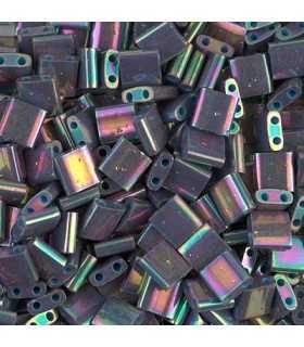 TILA BEADS 5x5x2 MM 2 AGUJEROS 5 GRAMOS METAL IRIS
